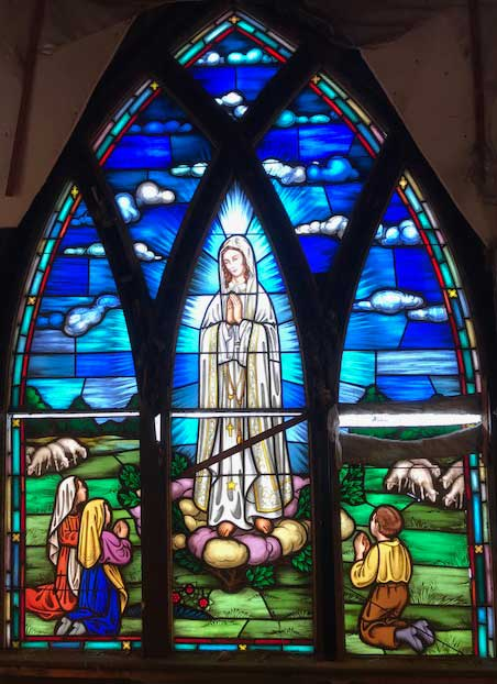 Virgin of Fatima Stained Glass Window